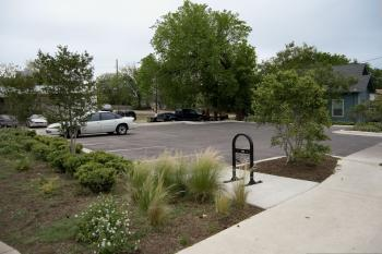 Photograph of a parking lot