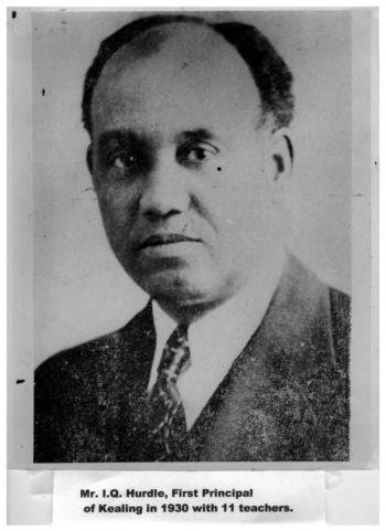 Portrait of I.Q. Hurdle, the first principal of Kealing Junior High School in Austin, TX in 1930.